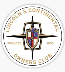Lincoln Continental Owners Club Sticker