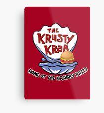 Krusty Krab Metal Print