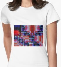 Needlepoint Abstract Women's Fitted T-Shirt