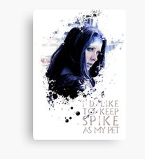 Illyria - I'd Like To Keep Spike As My Pet Canvas Print