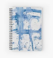 Blue Watercolor Streak ~ Abstract Painting Spiral Notebook