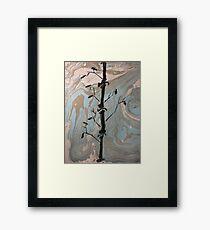Suminagashi Bamboo # 1 Framed Print