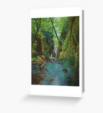 Oneonta Gorge Oregon Greeting Card