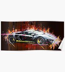 Sportscar, Lamborghini - Popart / Auto Poster