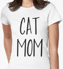 cat mom Womens Fitted T-Shirt