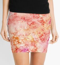 """""""Sunny"""" ~ Abstract Watercolor Painting  Mini Skirt"""