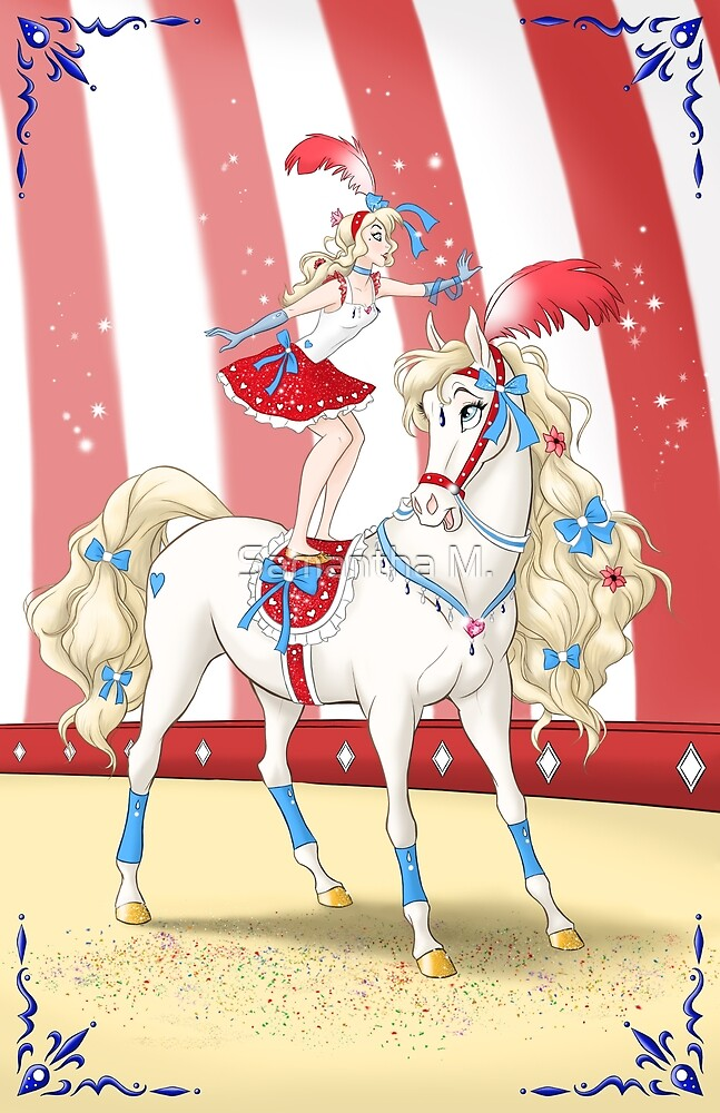 Circus Girl and Her Horse by smack2d