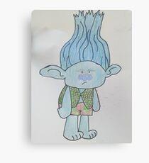 Trolls-blue Branch grey Mood Canvas Print