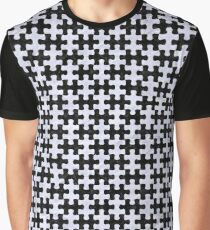 PUZZLE1 BLACK MARBLE AND WHITE MARBLE Graphic T-Shirt