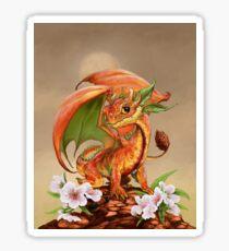 Peach Dragon Sticker