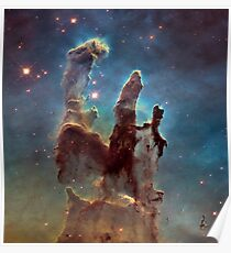 Eagle Nebula - The Pillars of Creation Poster