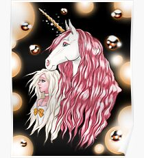 Girl and Unicorn 1 (Print Version) Poster
