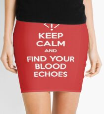 Keep Calm and find your blood echoes Mini Skirt