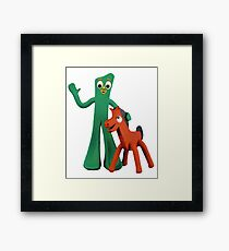 Gumby and Pokey  Framed Print