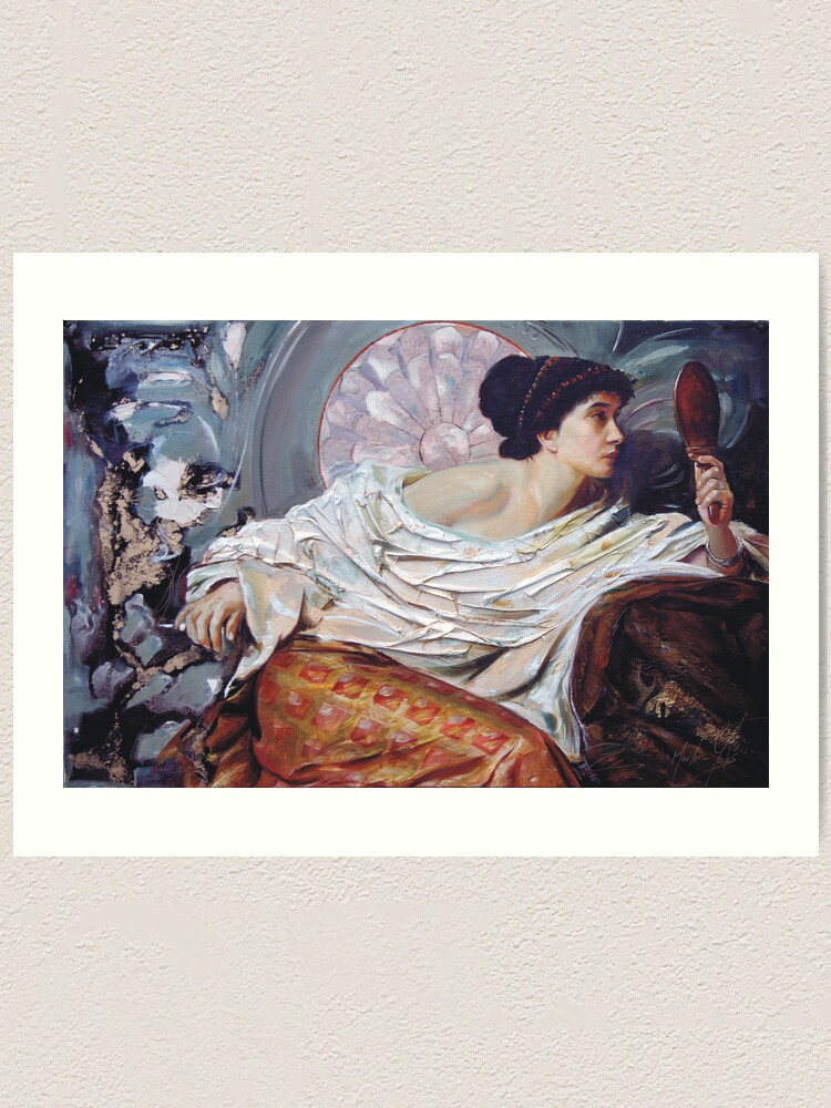Alternate view of The Mirror (after Frank Dicksee) Art Print