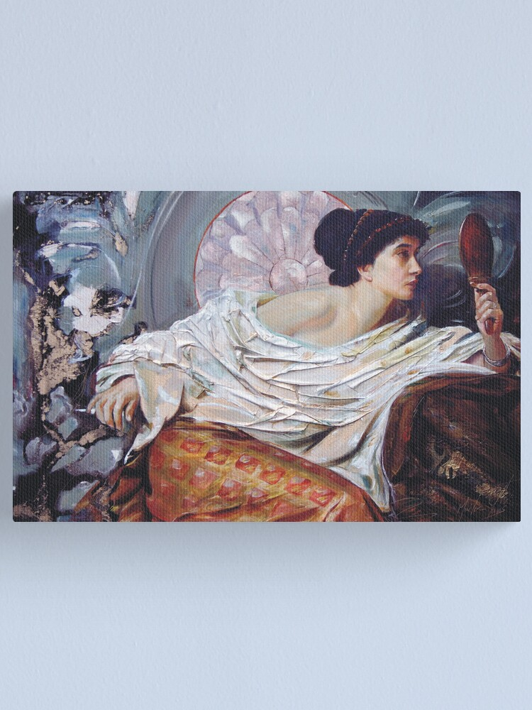 Alternate view of The Mirror (after Frank Dicksee) Canvas Print