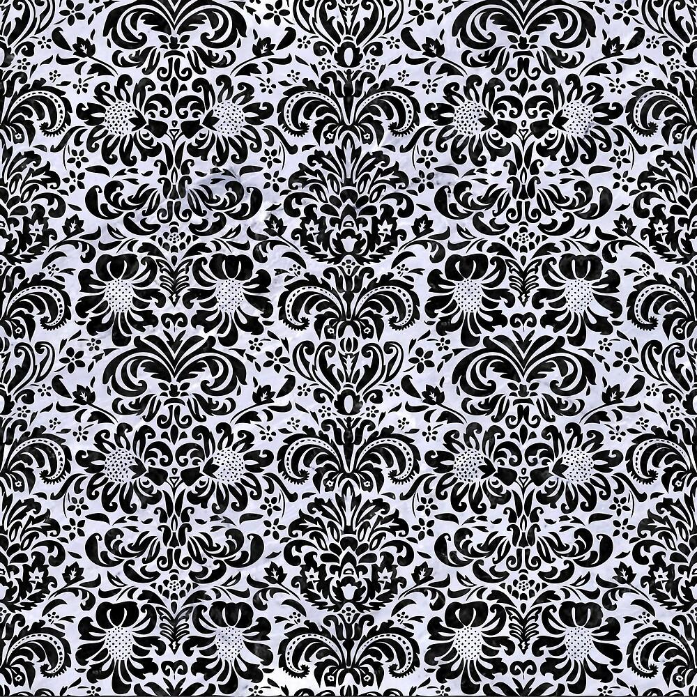 DAMASK2 BLACK MARBLE AND WHITE MARBLE (R) by johnhunternance