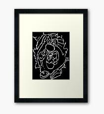 Rayman White Framed Print