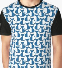 Blue cats pattern Graphic T-Shirt