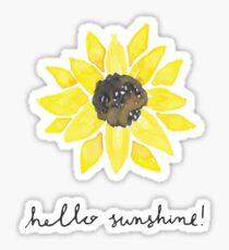 Hello Sunshine Sunflower Sticker