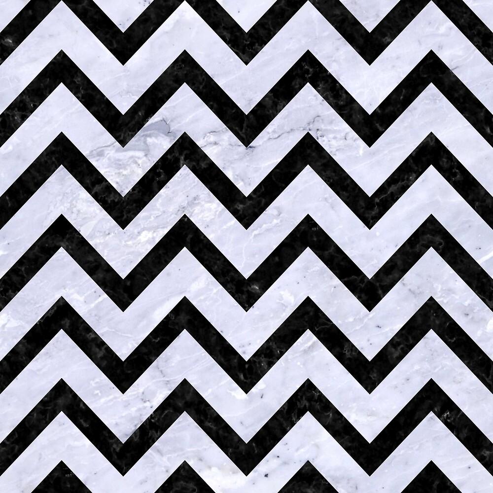 CHEVRON9 BLACK MARBLE AND WHITE MARBLE (R) by johnhunternance