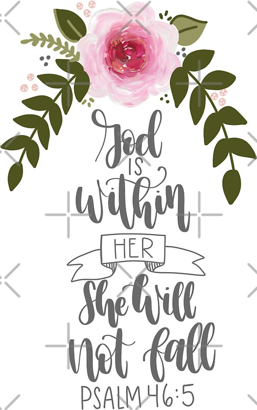 Quot Psalm 46 5 Quot Stickers By Ktscanvases Redbubble