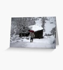 Snow walk Greeting Card