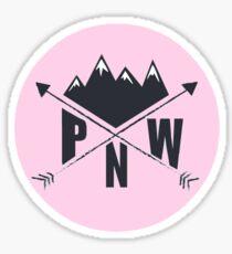 PNW (pink) Sticker