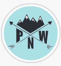 PNW (blue) Sticker