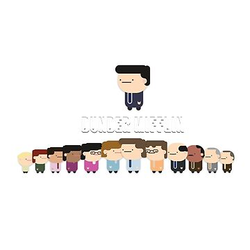 Dunder Mifflin Characters - The Office by GabJ