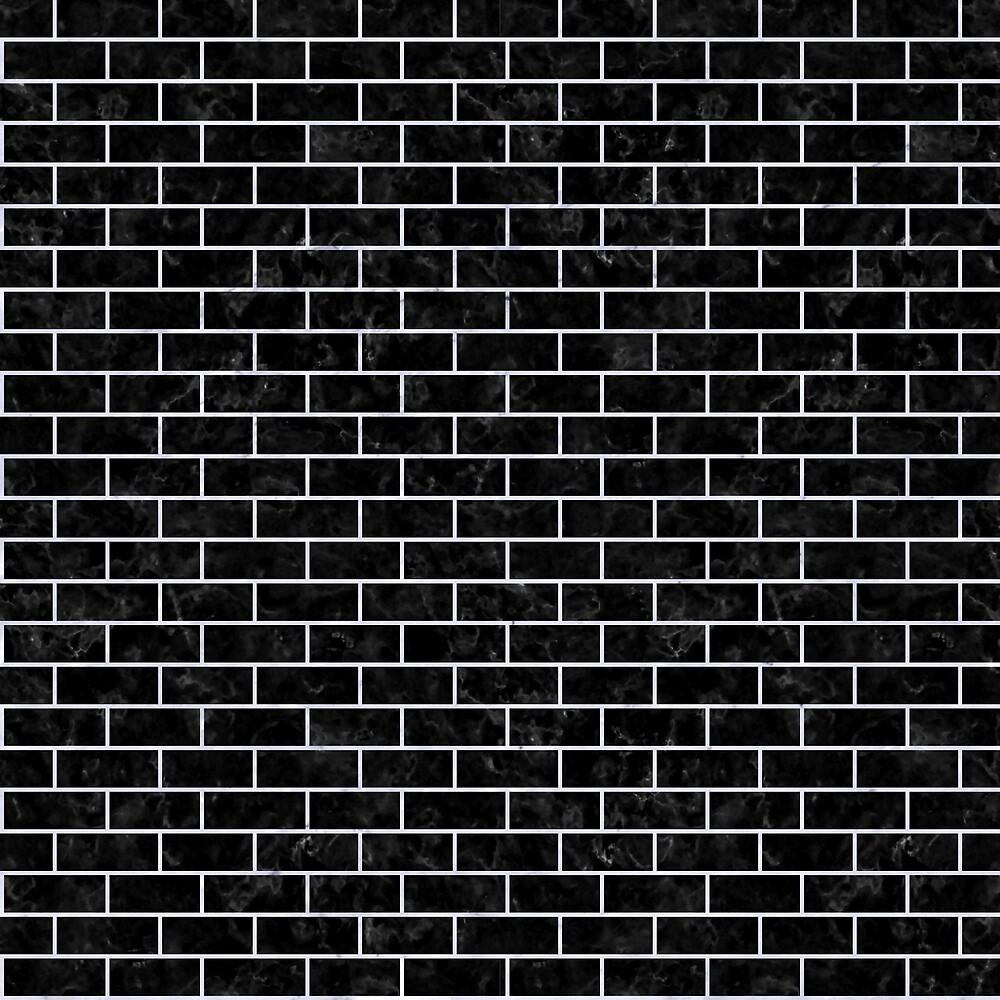 BRICK1 BLACK MARBLE AND WHITE MARBLE by johnhunternance