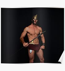 Elite Male Fitness Model - A059 Poster