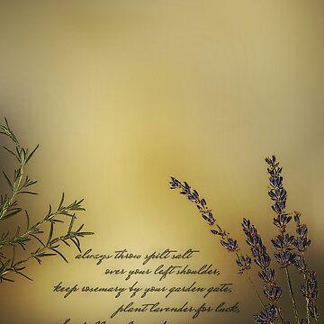 Lavender, Rosemary, Love by OshustArt