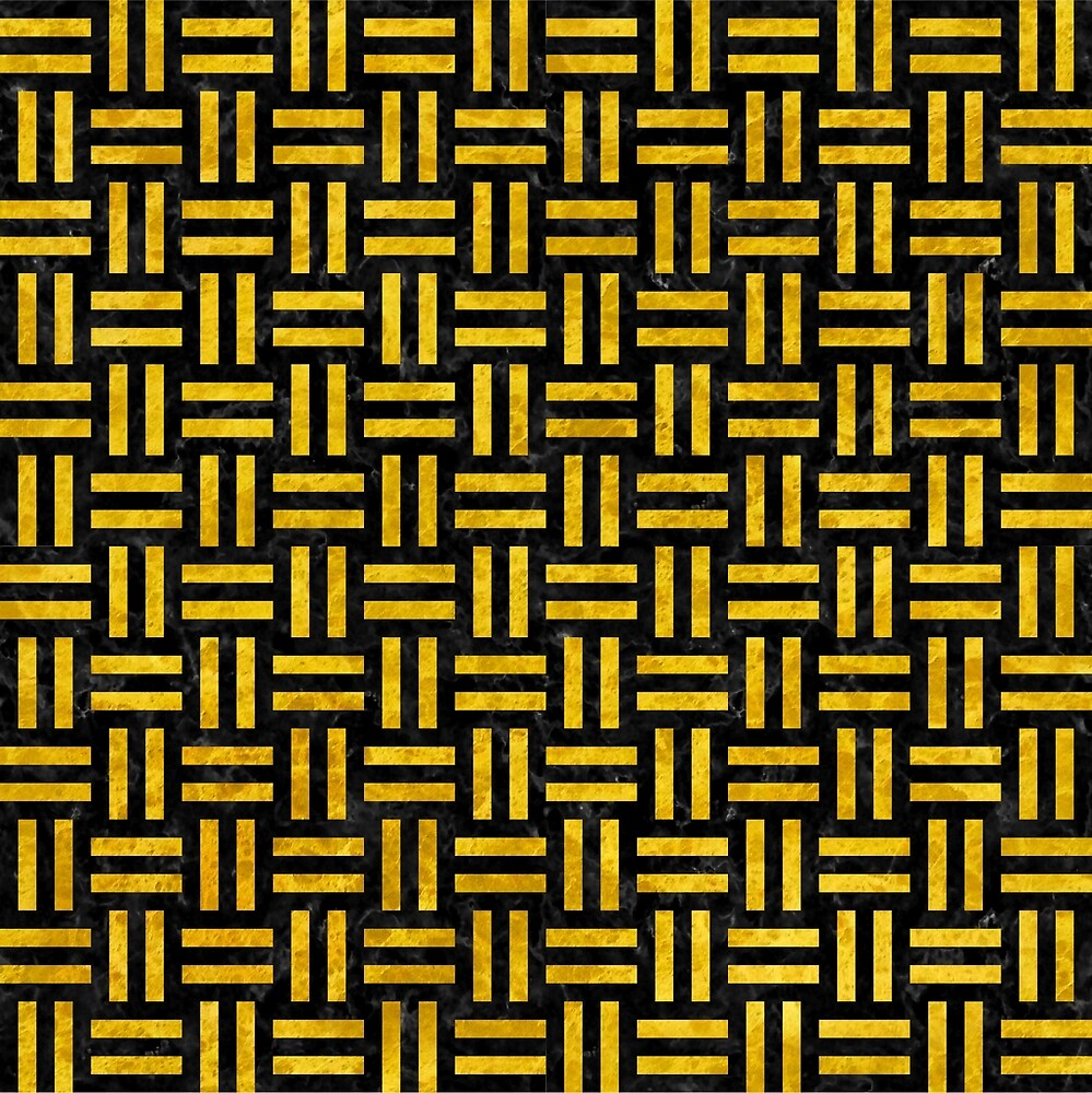 WOVEN1 BLACK MARBLE AND YELLOW MARBLE by johnhunternance