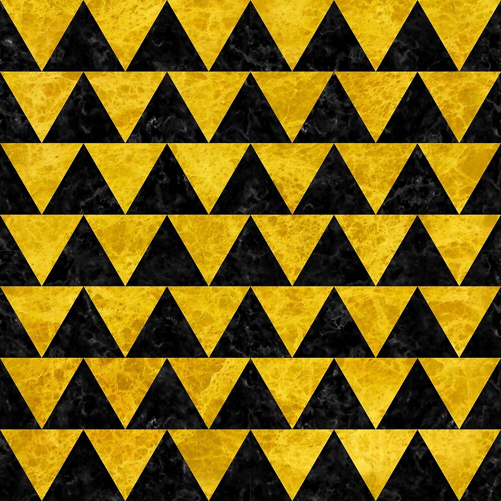 TRIANGLE2 BLACK MARBLE AND YELLOW MARBLE by johnhunternance