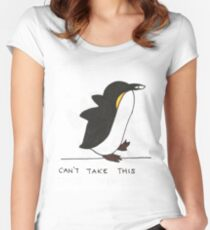 Penguin: Can't Touch This Women's Fitted Scoop T-Shirt