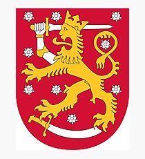 Finland Coat of Arms Photographic Print