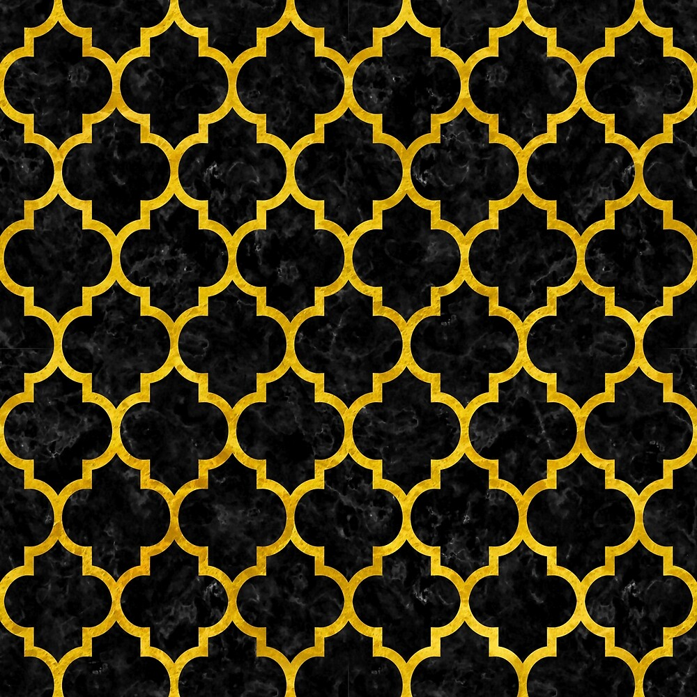 TILE1 BLACK MARBLE AND YELLOW MARBLE by johnhunternance