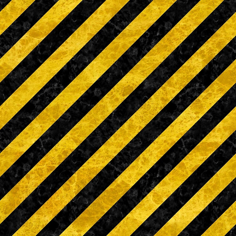 STRIPES3 BLACK MARBLE AND YELLOW MARBLE by johnhunternance