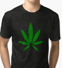 hemp symbol green Tri-blend T-Shirt
