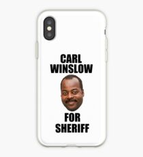 Carl Winslow for Sheriff 2 iPhone Case
