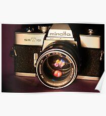 Classic 1960's 35mm SLR Camera Poster