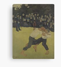 Breton Wrestling 1890 - 1891 Paul Sérusier Canvas Print