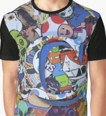( C ) Personalized Coolest Sticker MashUp Graphic T-Shirt