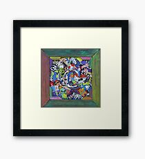 ( C ) Personalized Coolest Sticker MashUp Framed Print