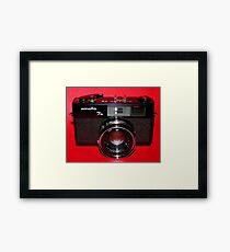 Black Rangefinder Camera Framed Print
