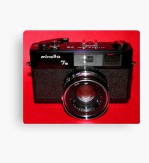Black Rangefinder Camera Canvas Print