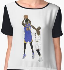 Kevin Durant Clutch Shot Over LeBron James Women's Chiffon Top