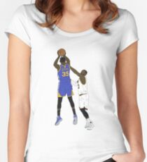 Kevin Durant Clutch Shot Over LeBron James Women's Fitted Scoop T-Shirt