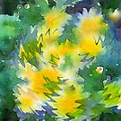Welcome Spring Abstract Floral Digital Watercolor Painting 3 by Beverly Claire Kaiya